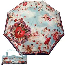 MOSCHINO BOUTIQUE umbrella with bag angels print blue 7280