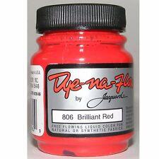 JACQUARD DYE-NA-FLOW BRILLIANT RED SILK FABRIC PAPER DYE