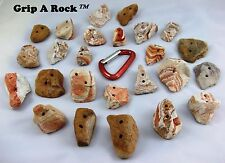 "35 Rock Climbing Hand Holds, Rock Wall Holds, Rock Climbing Holds, ""REAL ROCK"""