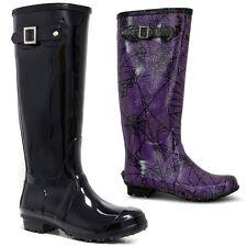 New Ladies Womens Festival Rain Snow Waterproof Wellies Wellington Boots Size UK