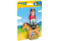 6973 playmobil 1 2 3 * Reiterin mit Pferd * für Kinder ab 1½ Jahren / 18 Monate