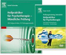 Psychotherapie für Heilpraktiker, Buch + Prüfungstraining interaktiv DVD, NEU