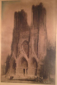 James A. Brewer (COA)  pencil signature(s) (Jacobi reproof ) Rheims Cathedral