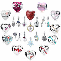 More Variety 925 Silver Charm Beads Women Fashion Jewelry Gifts Pendant Diy Hot