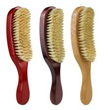 Bristle Wave Hair Comb Wooden Handle Hair Beard Brush Large Curved Comb Tools