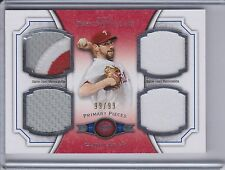 CLIFF LEE 2012 Topps Museum Primary Pieces Quad Relics Patch 99/99  (B9977)