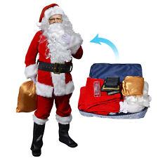 Adults M Deluxe Santa Claus Suit Christmas Plush  Costume Fancy Dress