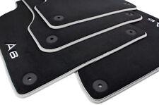 Original Audi Fußmatten A6 4G / Allroad Velours S-Line Autoteppiche Nubuk silber