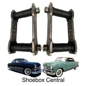1949 1950 Ford Shoebox Rear Leaf Spring Shackles Pair