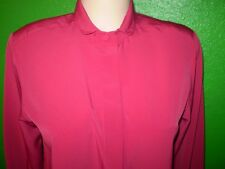FRENCH CUFF SILKY SHIRT TOP VINTAGE ? DRESS SUIT BLOUSE p6 SMALL discrete sale