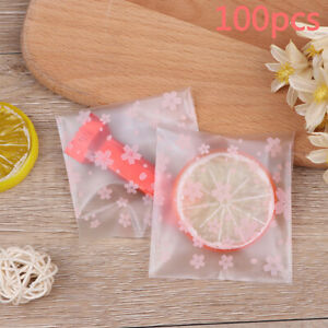100pcs/Transparent Plastic Bag Candy Cookie Birthday Party Candy Packaging Ba SF