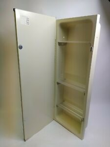 Vintage Recessed Rare Medicine Bathroom Cabinet Unusual Sz 13x36 Stainless Steel