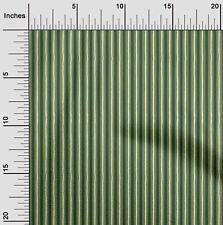 oneOone Cotton Poplin Light Green Fabric Stripe Block Dress Material-Alj