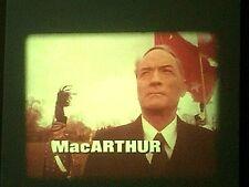 "16mm Film Feature ""MacARTHUR"" Gregory Peck 4-1200' reels Mylarstock"