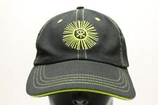 SUNBURST LOGO - GOLF - YELLOW ON BLACK - IMPERIAL - ADJUSTABLE BALL CAP HAT!