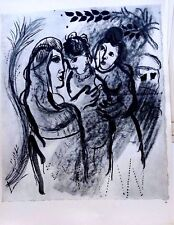 Marc Chagall offset lithograph Bible  paris maeght 1960 original  2 sided 128