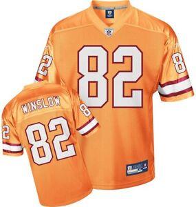 Reebok Tampa Bay Buccaneers Kellen Winslow #82 Alternate Jersey, Orange