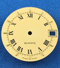 Unbranded Watch Dial Part -Latin Numbers- 25.5mm -Swiss Made- Quartz  #759