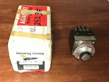 New! Agastat 2412BE Timing Relay 10-200 Seconds 240 V/60 C Coil Old Stock