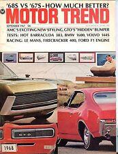 Motor Trend Magazine September 1967 Barracuda 383 EX No ML 041817nonjhe