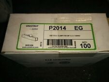 New Box of 100 P2014 Unistrut One Hole Clamp for 5/8 Tubing Free Shipping!