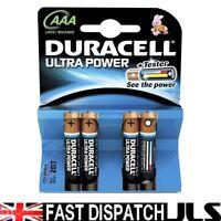 4 x DURACELL ULTRA AAA MN2400 LR03 Batteries 1.5V ALKALINE 1 PACK 4 MX2400