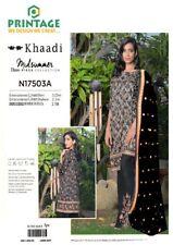 Khaadi pakistanischen asiatischen Designer Premium Leinenanzug Bestickt Chiffon duptta