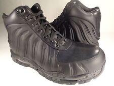 Nike Air Max Foamdome Foamposite Boots Black Triple Black SZ 11 (843749-002)