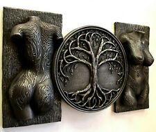 Sexy erotic tattoo covered torso and tree of life sculpture wall decor iron gift