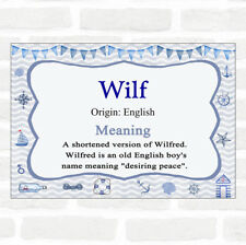 Wilf Name Meaning Nautical Certificate