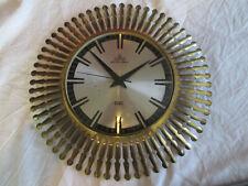 Sunburst Wanduhr Meister Anker Junghans Uhr Messing wall clock brass - 50er 50s