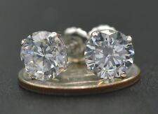 2.5ct Created Diamond Basket Stud Earrings 14K Solid White Gold ScrewBack  (JM16