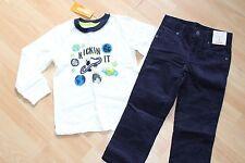 NUEVO CON ETIQUETA Niños Gymboree Talla 4 4t Camisa, Azul Pantalones Pana