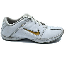Nike Sideline Cheer Womens Size 9 White Leather Athletic Cheerleading Sneakers