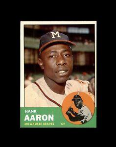 1963 TOPPS #390 HANK AARON BRAVES NM+ to NM-MT