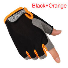 Silicone Half Finger Racing Motorcycle Gloves Cycling Bicycle MTB Riding Gloves
