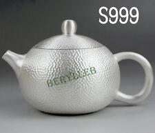 Pure Handmade S999 Pure Silver Xi Shi Gongfu Teapot 250ml * Free Shipping