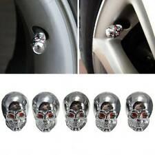 5Pcs Car Skull Wheel Tyre Tire Stem Air Valve Caps Dust Cover Accessories