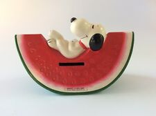 Vintage - Peanuts - Snoopy Watermelon Coin Bank - Papier-Mâché - FREE SHIP