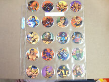 Mortal Kombat(Blank) By Midway 1992 Pogs/Milkcaps Complete Set Of (21) Sheeted