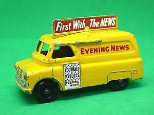 Matchbox Lesney No.42a Bedford 'CA' Evening News Van (RARE BLACK PLASTIC WHEELS)