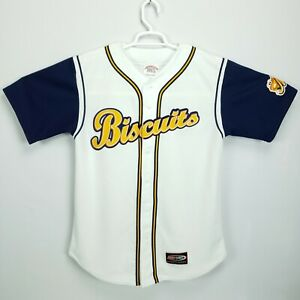 Montgomery Biscuits Men's L Stitched and Patched MILB Baseball Jersey
