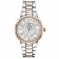 Bulova Women's 98R162 Quartz Diamond Accent Two-Tone Bracelet 34mm Watch