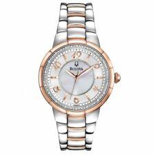 Bulova Women's Quartz Diamond Accent Two-Tone Bracelet 34mm Watch 98R162