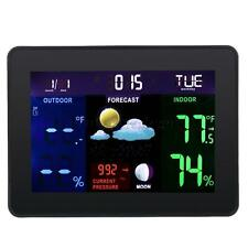 Projection Digital Weather LCD Wireless Color Weather Station Atomic Clock