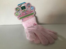 EARTH THERAPEUTICS PINK ULTRA PLUSH ALOE MOISTURE GLOVES W/ALOE VERA & VITAMIN E