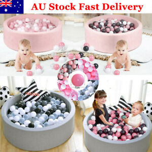 Kids Soft Play Ball Pit Paddling Pool Foam 90x30cm with MultiColoured 200 Balls