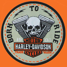 HARLEY DAVIDSON Born To Ride V-Twin Skull 4.0 INCH  HARLEY PATCH