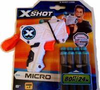 X-Shot Zuru Micro Gun Dart Blasters Toy range includes 8 bullets