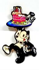 Vintage DftD Felix The Cat Decoupage Enamel on Copper Pin Designs From The Deep